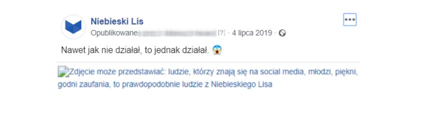 RTM Niebieski Lis - real time marketing