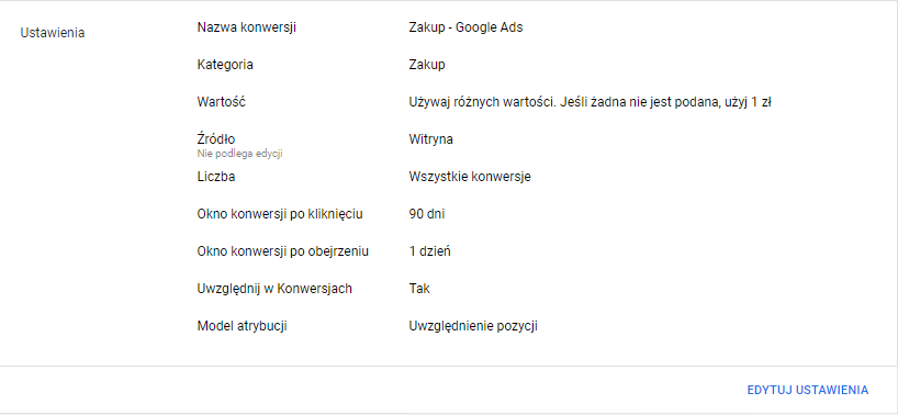 Przykład implementacji konwersji Google Ads naWooCommerce