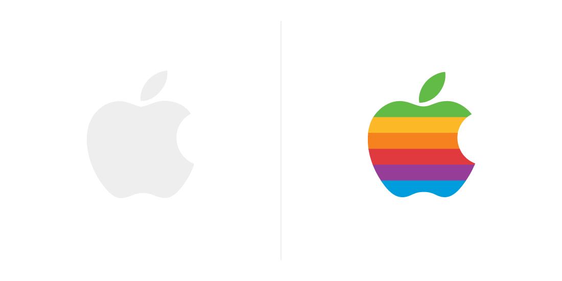 Apple znaczenie kolorów wlogo