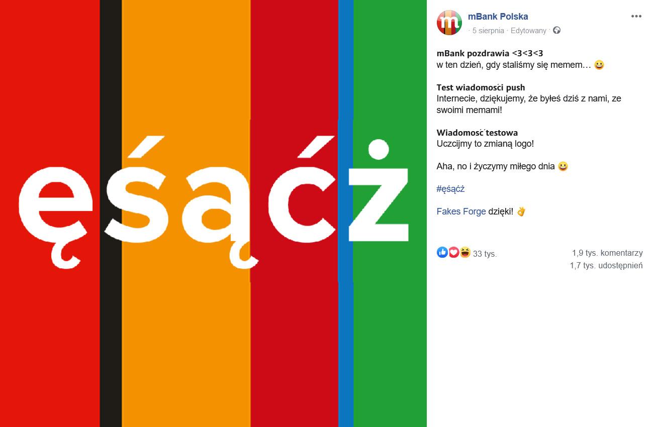 post mBanku naFacebook