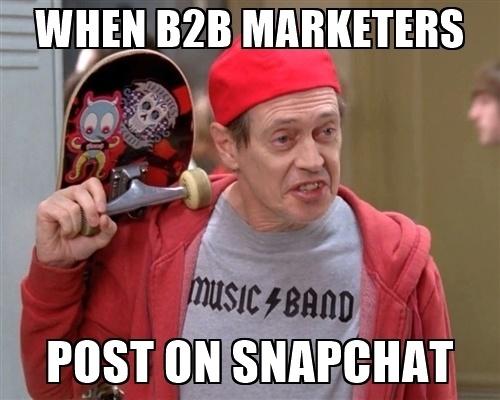 b2b marketing Snapchat