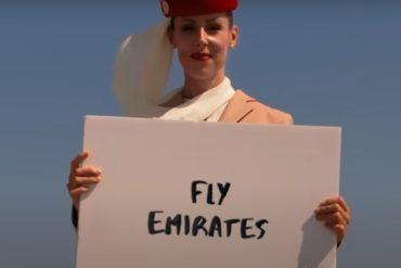 spot reklamowy Fly Emirates na Burj Khalifa
