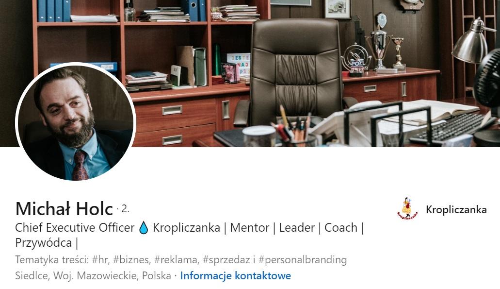 Michał Holc na LinkedIn